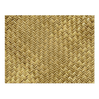 Golden Basket weave Pattern Postcard