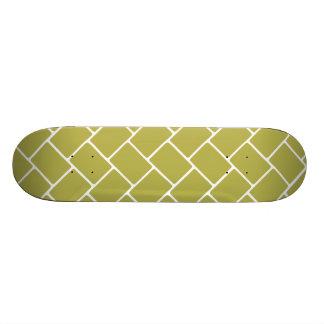 Golden Basket Weave Skateboard Deck