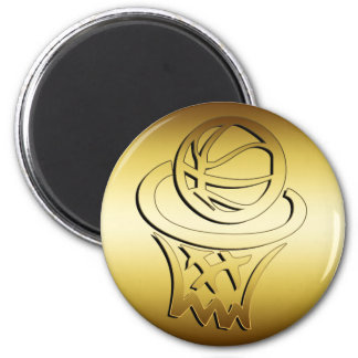 GOLDEN BASKETBALL HOOP MAGNET