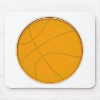 Golden Basketball Mouse Pad
