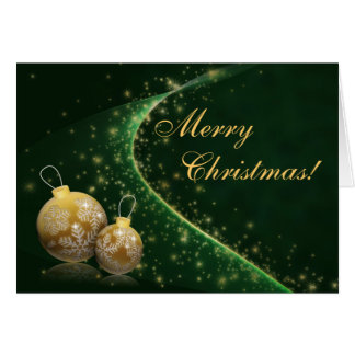 Golden Baubles Christmas Card