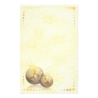 Golden Baubles Stationery