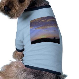 Golden Beach Clouds Sunset Doggie Tee
