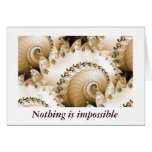 Golden Beach Shell Nothing Is Impossible Card