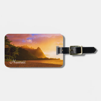 Golden beach sunset, Hawaii Luggage Tag