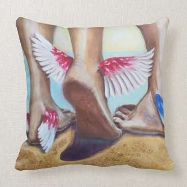 Beach Themed golden beach throw pillow