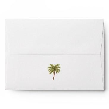 Beach Themed Golden Beaches Tropical Christmas Card Envelope