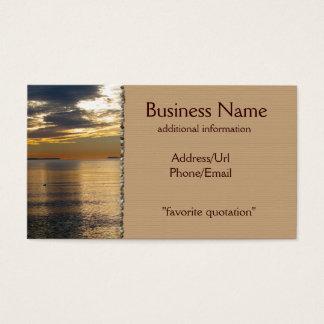 Golden Beams Business Card