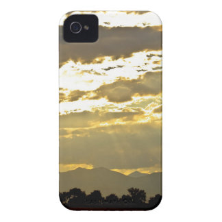 Golden Beams Of Sunlight Shining Down iPhone 4 Case-Mate Case