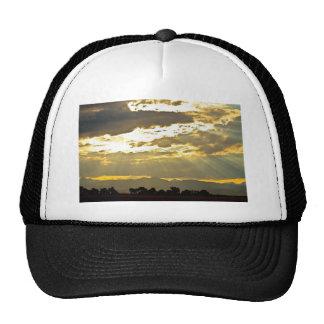 Golden Beams Of Sunlight Shining Down Trucker Hat