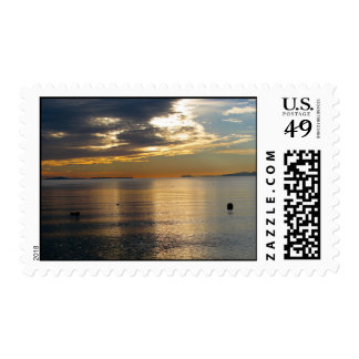 Golden Beams Postage Stamps
