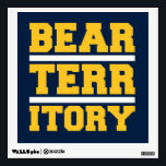 """Golden Bear Territory Wall Decal<br><div class=""""desc"""">Check out these official Bear Territory products! You can personalize your own UC Berkeley merchandise on Zazzle.com to show off your University of California pride. This Cal gear is perfect for students,  friends,  family,  staff,  and alumni.  Go Golden Bears!</div>"""