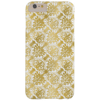 Golden beautiful baroque stylish elegant pattern barely there iPhone 6 plus case