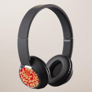 Golden beautiful baroque stylish elegant pattern headphones