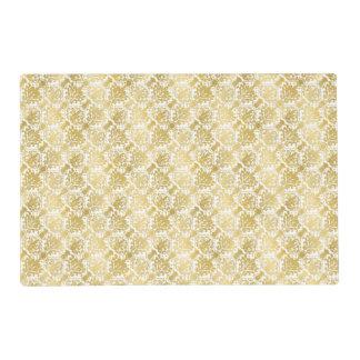Golden beautiful baroque stylish elegant pattern placemat