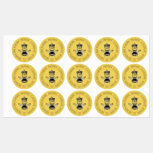 Golden Bee And Crown Bee Products Labels