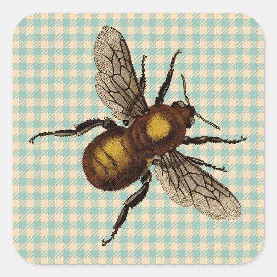 Golden Bee Art Square Sticker