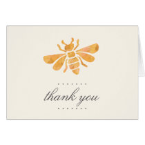 Golden Bee Watercolor Thank You