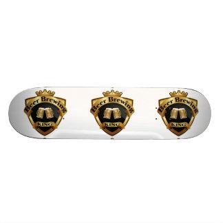 Golden Beer Brewing King Crown Crest Skate Board