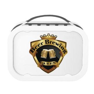 Golden Beer Brewing Queen Crown Crest Lunch Box