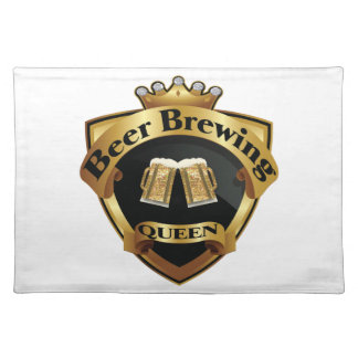 Golden Beer Brewing Queen Crown Crest Placemat