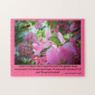 Golden Bees - Lowell Quote Jigsaw Puzzle