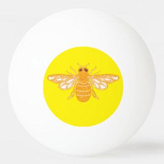 Golden bees ping pong ball