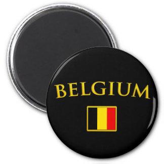 Golden Belgium 2 Inch Round Magnet
