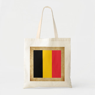 Golden Belgium Flag Budget Tote Bag