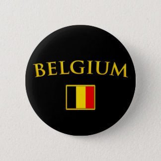 Golden Belgium Pinback Button