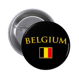 Golden Belgium Pinback Button