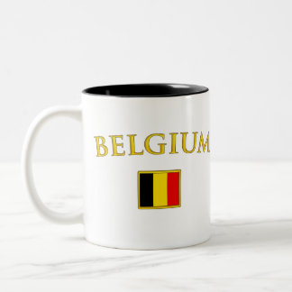 Golden Belgium Two-Tone Coffee Mug