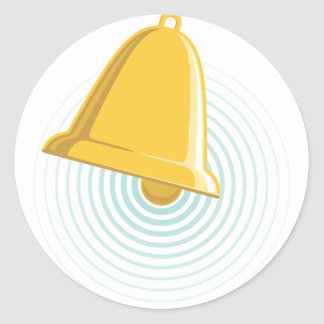 Golden Bell Alert Classic Round Sticker