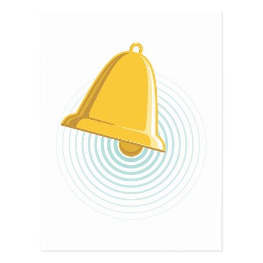 Golden Bell Alert Post Card