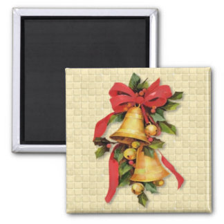 Golden Bells at Christmas Magnet