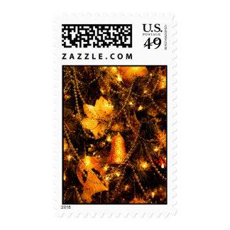 Golden Bells Christmas Postage Stamp