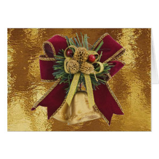 Golden Bells on Stained Glass Card