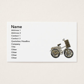 Golden Bicycle Basket Business Card