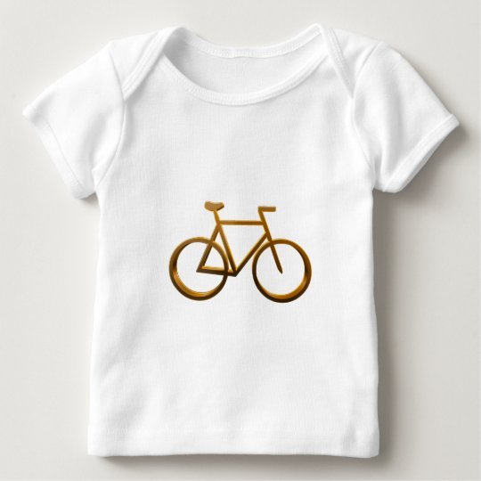 Golden Bicycle Design Baby T-Shirt