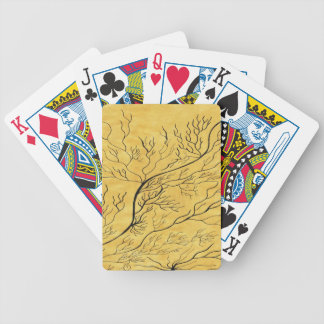 Golden Bicycle Playing Cards