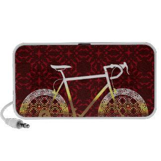 Golden Bicycle Vector Art Mini Speaker