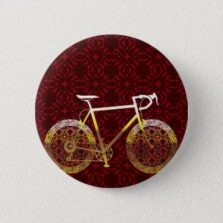 Golden Bicycle Vector Art Pinback Button