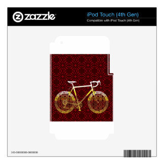 Golden Bicycle Vector Art Skins For iPod Touch 4G