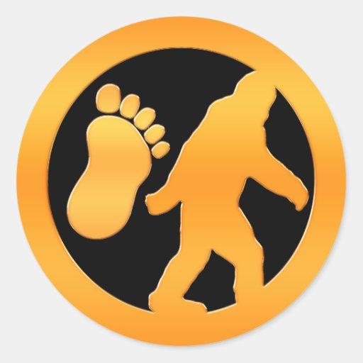 Golden Bigfoot Classic Round Sticker