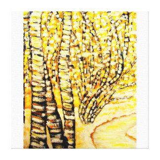 golden birch gallery wrap canvas