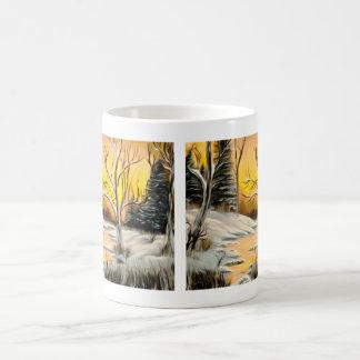 Golden Birch Winter Mirage Coffee Mug