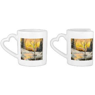 Golden Birch Winter Mirage Coffee Mug Set