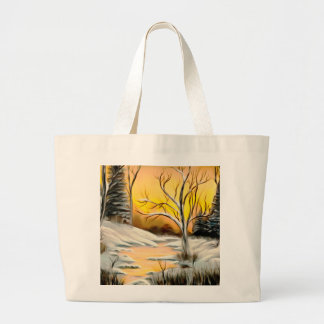 Golden Birch Winter Mirage Large Tote Bag