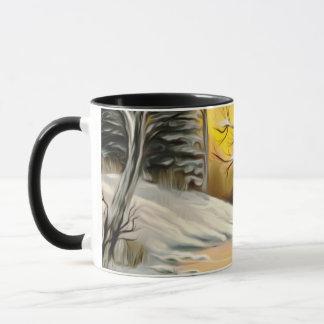 Golden Birch Winter Mirage Mug