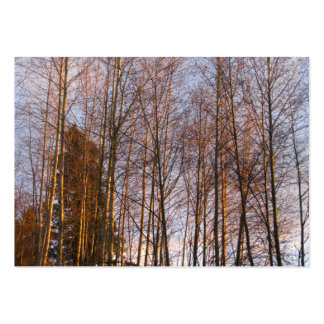 Golden Birches Large Business Card